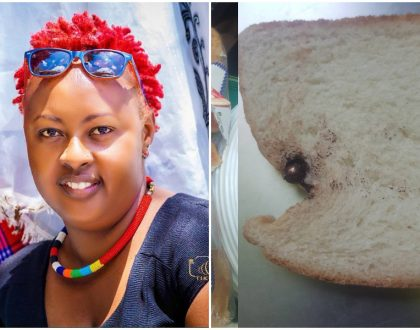 Festive bread apologizes to Machachari's actress Mama Baha after she found something bizarre in a loaf of bread she bought