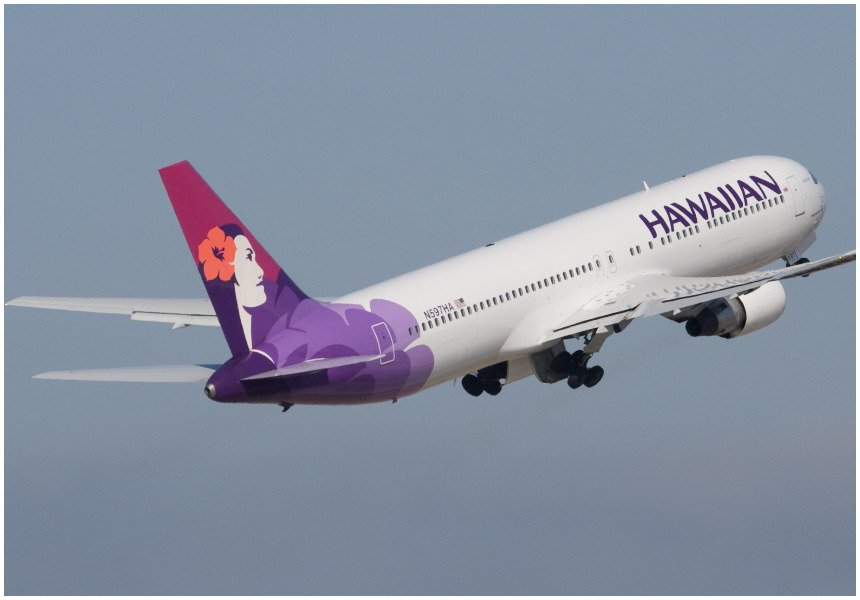 Hawaiian Airlines flight travels back in time