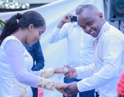 Popular K24 journalists exchange their vows in an all white private wedding ceremony (Photos)