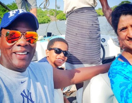 Jeff Koinange enjoying his holiday in Malindi with his young family, meet his wife and handsome son (Photos)
