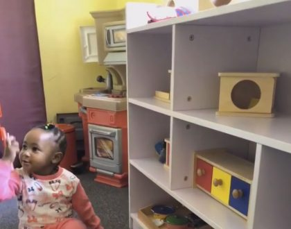 Dj Mo and Size 8's daughter attends first day of pre school: check out her adorable video