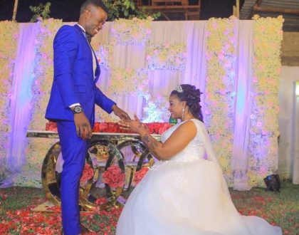 Despite her struggling grammar singer Shilole weds her handsome young man in lavish wedding (Photos)