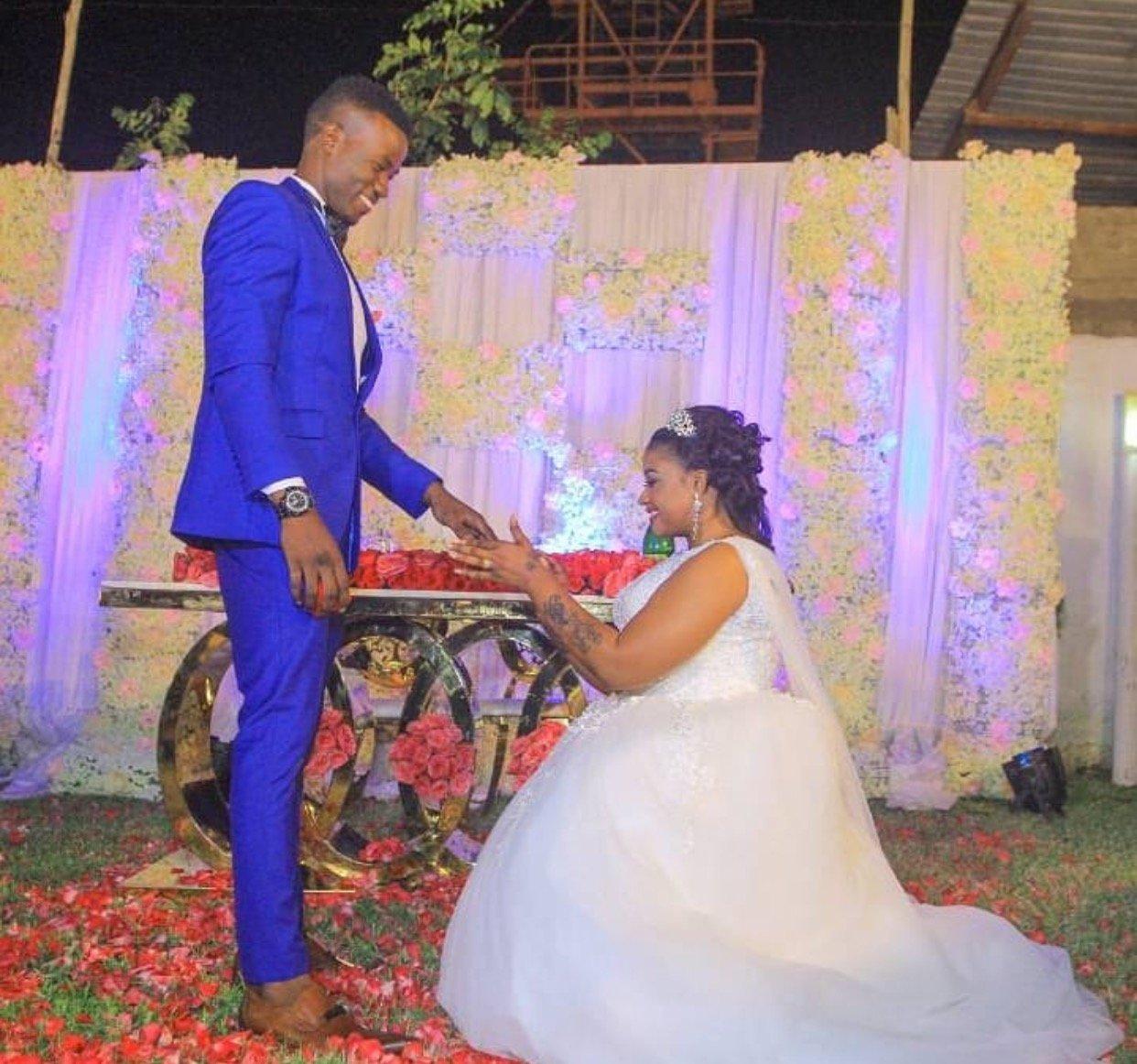 Despite her struggling grammar singer Shilole weds her handsome young man in lavish wedding (Photos)