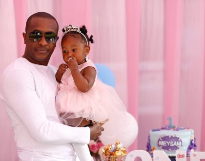 Daddy's princess! Steve Mbogo buys his youngest daughter a Range Rover for her 1st birthday