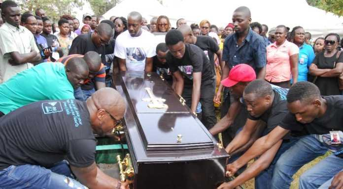 Rest In Peace! The late Jeremy Odhiambo 'Saliva Vic' laid to rest