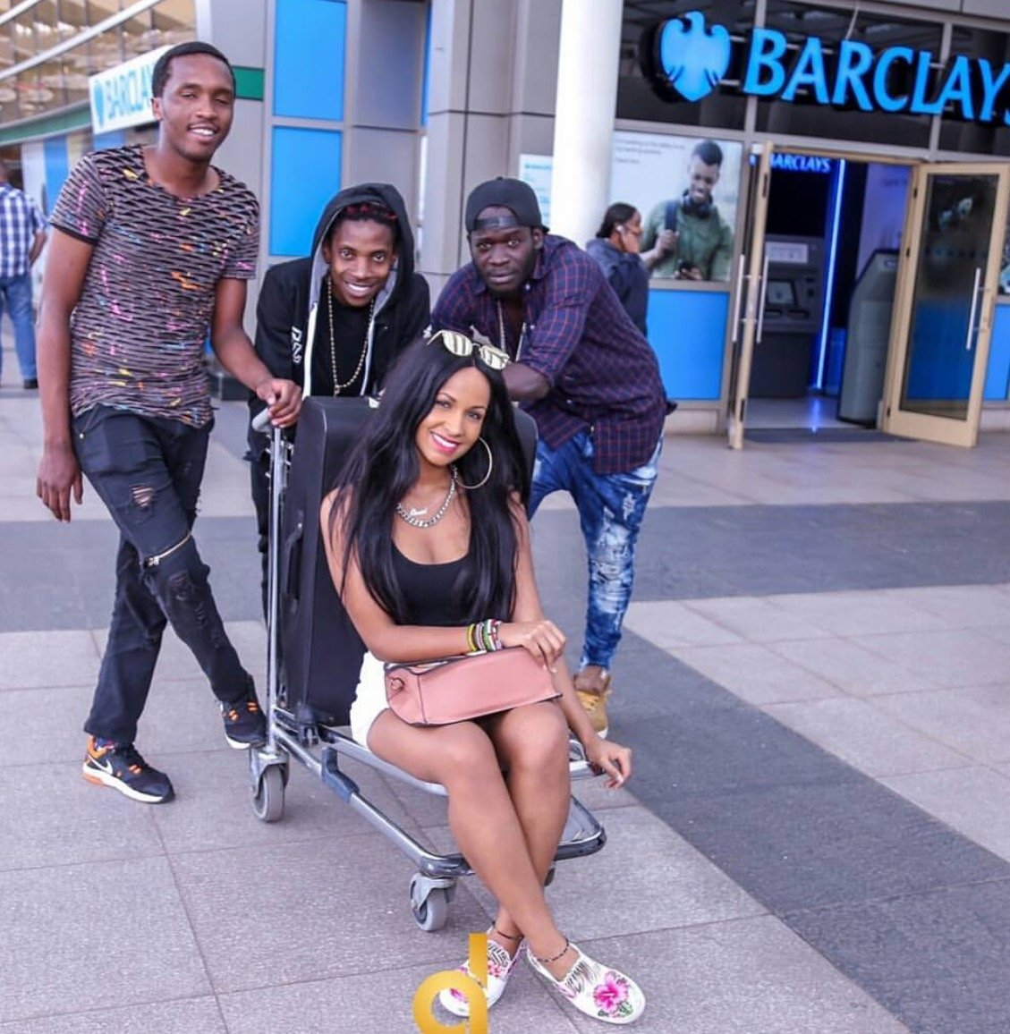Eric Omondi's fiancé's reaction after seeing what her man did to welcome her back home