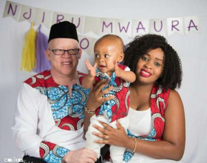 Isaac Mwaura and wife celebrate their son's first birthday