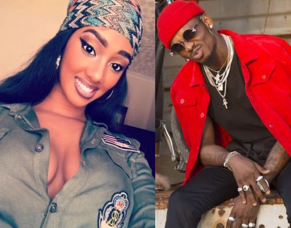 Diamond Platnumz Rwandese lady is here to stay! She steps out wearing his designer slippers (video)
