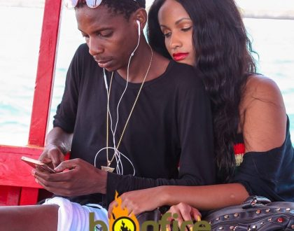 Eric Omondi's girlfriend gives ladies a reason to talk after her wig almost slipped off