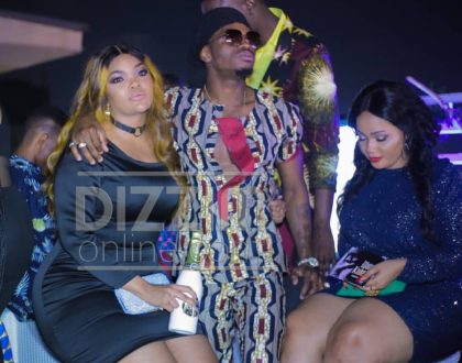 Diamond shows public display of affection with scantily-clad Wema Sepetu (Video)