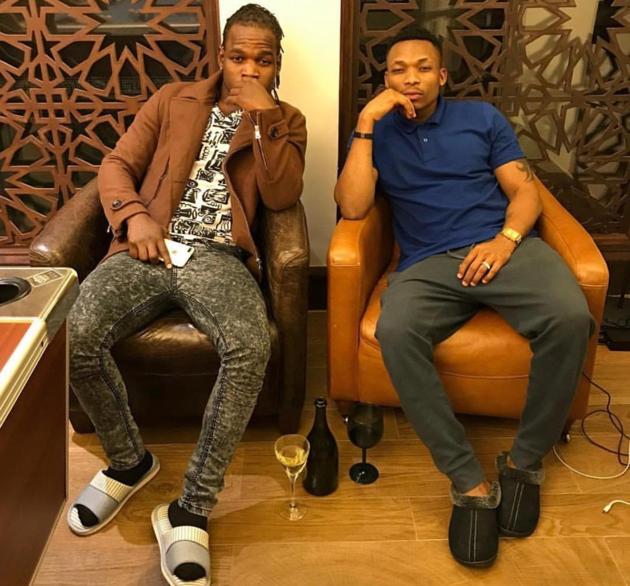 Otile Brown and Timmy Tdat exchange blows at a private party