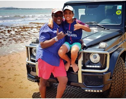 Jeff Koinange drives 566 km to spend quality time with his wife and son (Photos)