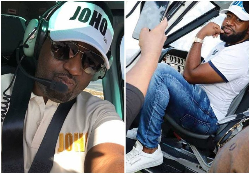 Jamal Gaddafi confirms Joho has bought a French-made chopper that has been flying him all over Mombasa