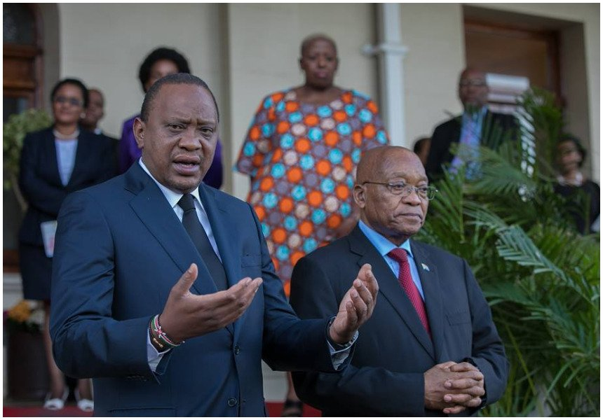Presidents Kenyatta, Zuma hold talks ahead of ANC birthday celebrations
