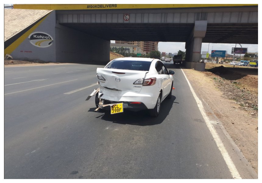 Foul play or accident? Dashboard camera captures the moment a truck rams into Boni Khalwale's Mazda three times