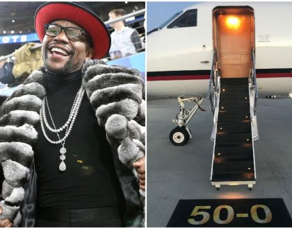 Floyd Mayweather takes internet by storm as he buys third private jet and 2018 Rolls Royce for his 41st birthday (Photos)