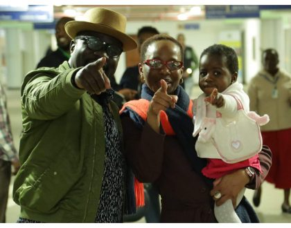 Gidi Gidi finally brings his daughter to Kenya after close to three years since she was born (Photos)