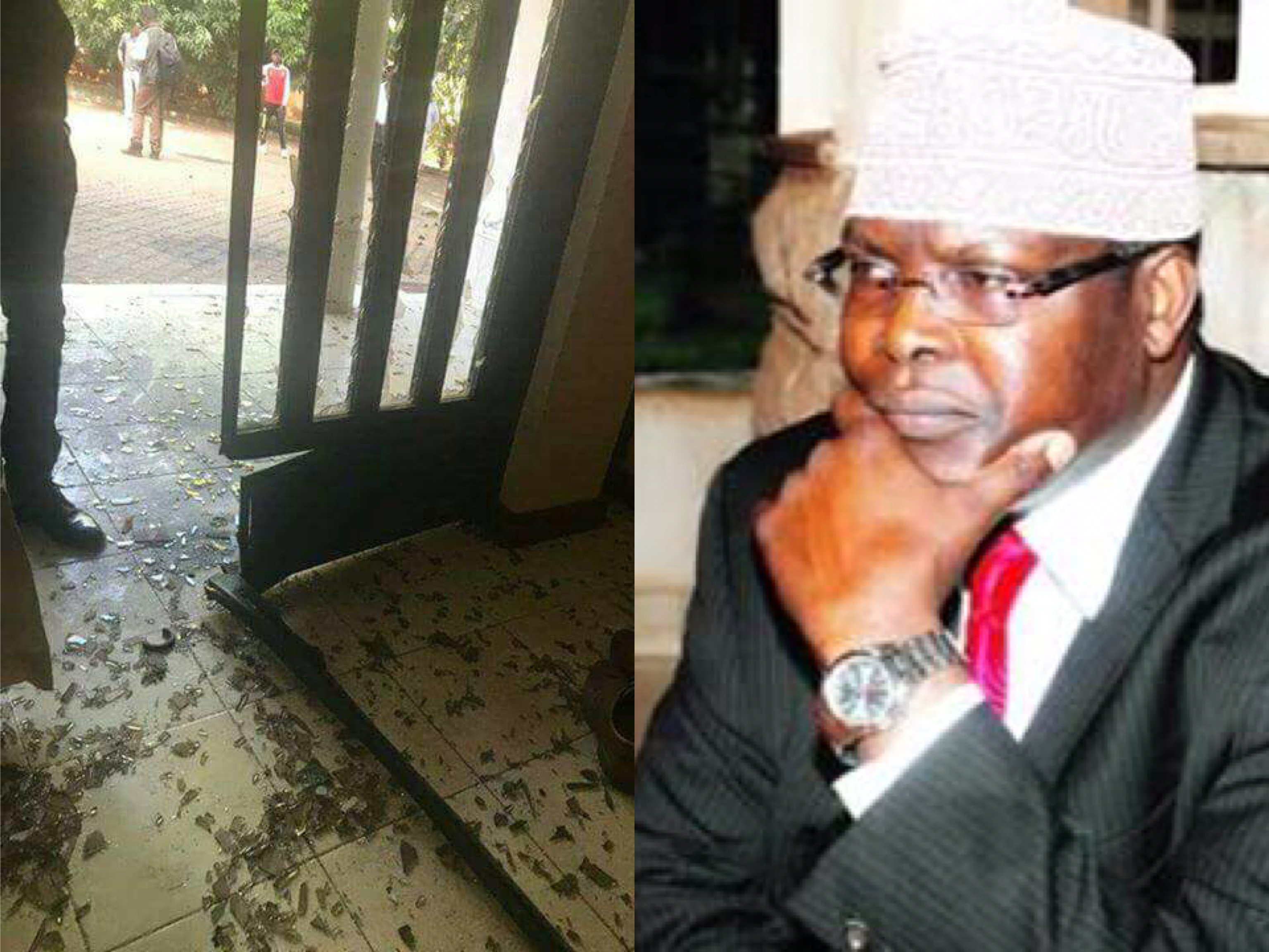 Photos from Miguna Miguna's house after it was attacked earlier this morning