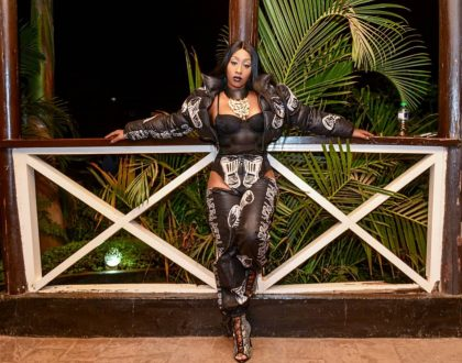 Victoria Kimani's security detail slaps a man in kisii after grabbing her 'assets', check out her outfit that left many thirsty!