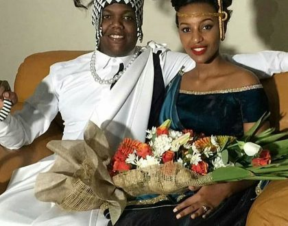 Shaffie Weru's message to AY and his bride shortly after their lit wedding in Rwanda