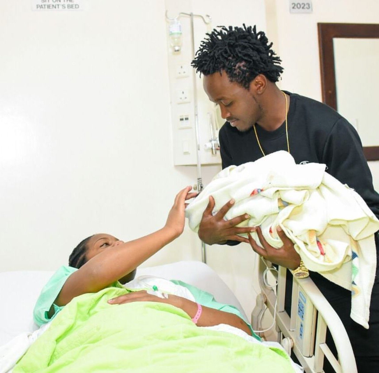 Bahati and his wife give in after fans tell them to stop parading their one week old baby, this is what they had to say!