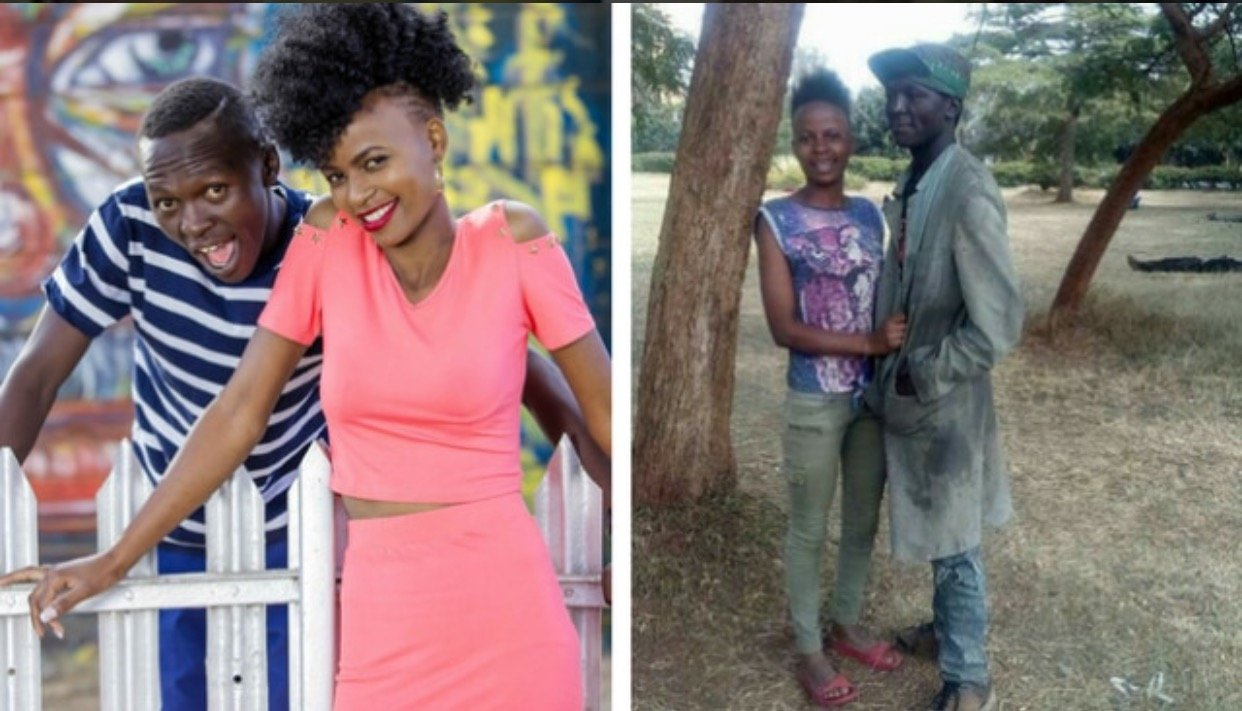 Street couple photographed enjoying sandy beach in Diani a few days after their Valentine's make over!