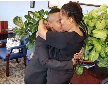 Kenyan lesbian Manuella Mumbi from Kiambu marries American model Lisa Webb Clay in US (Photos)