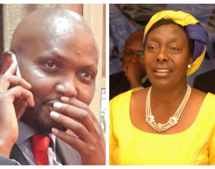 Is he rekindling his old flame? Moses Kuria causes a stir as he refers Charity Ngilu as his ex