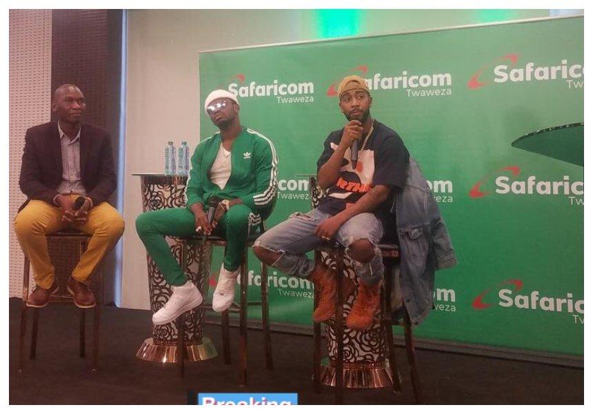 Diamond flies in Omarion ahead of his album launch in Nairobi (Photos)