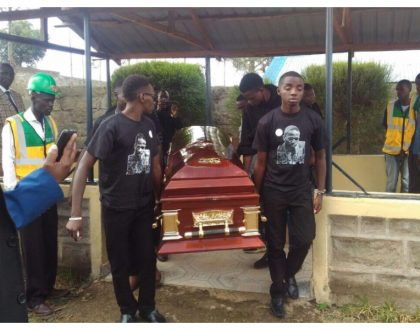 Sombre mood engulfs Longonot as slain Meru University student leader is laid to rest (Photos)