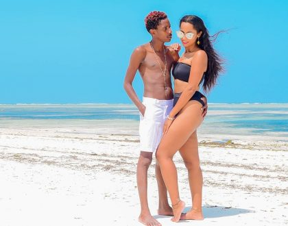 Eric Omondi spends birthday weekend in Zanzibar with his Italian girlfriend (Photos)