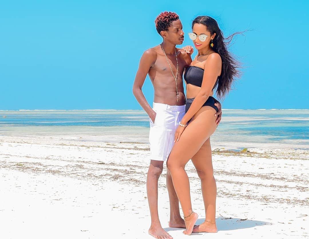 Eric Omondi spends birthday weekend in Zanzibar with his Italian girlfriend (Photos)