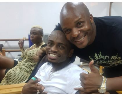 """Good to be working with you"" Jalang'o in raptures over new job Diamond Platnumz has given him"