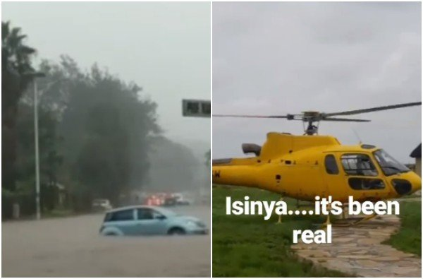 Jalang'o forced to call a chopper after almost being washed away by floods at Isinya (photos)