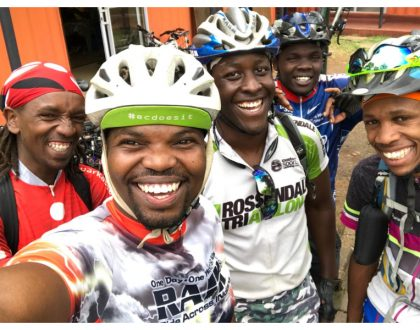 MC Jessy starts practice sessions ahead of his 300km bicycle race to Meru (Photos)
