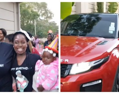 Saumu Mbuvi receives 15 million Range Rover that Sonko gifted her for giving him a granddaughter (Video)