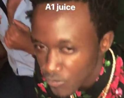 Was Bahati drunk while partying with his friends at a popular joint?(photos)