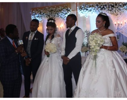 Alikiba and his brother Abdu Kiba hold a joint white wedding after their separateMuslim weddings (Photos)