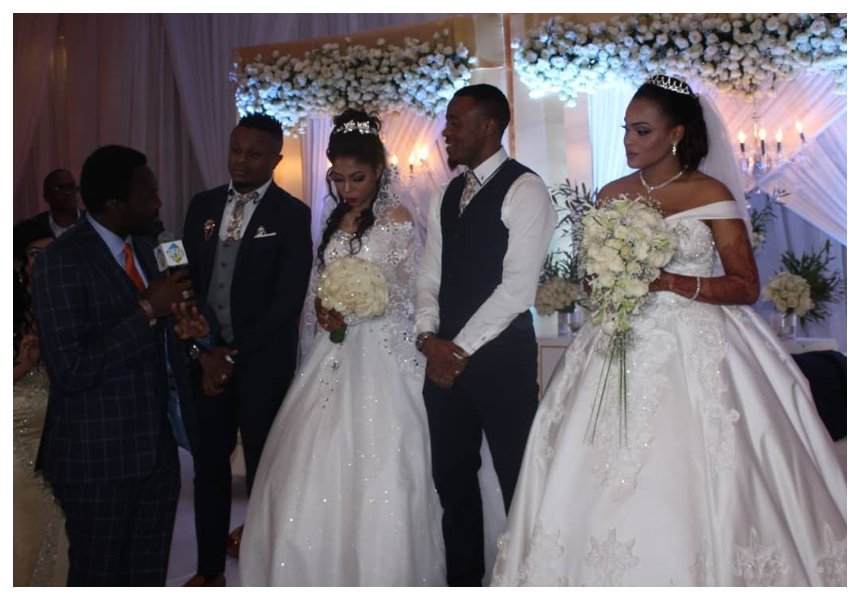Alikiba and his brother Abdu Kiba hold a joint white wedding after their separate Muslim weddings (Photos)