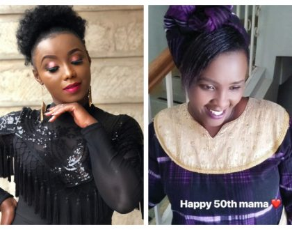 Catherine Kamau wows internet with photos of her mother who turns 50 (Photos)
