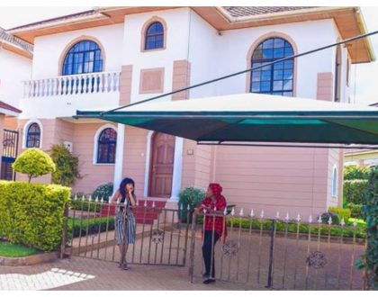 Eric Omondi and Chantal Grazioli flaunt their mega mansion in Nairobi (Photos)