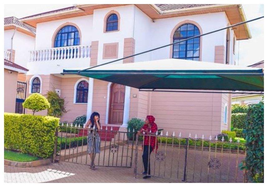 Eric Omondi andChantal Grazioli flaunt their mega mansion in Nairobi (Photos)