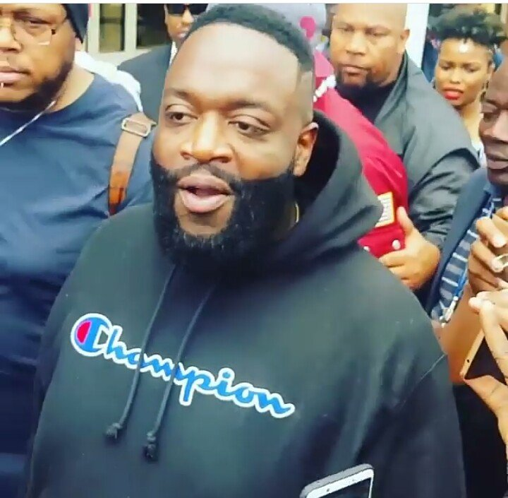 Rick Ross finally arrives in Nairobi, look at how he's guarded(photos)