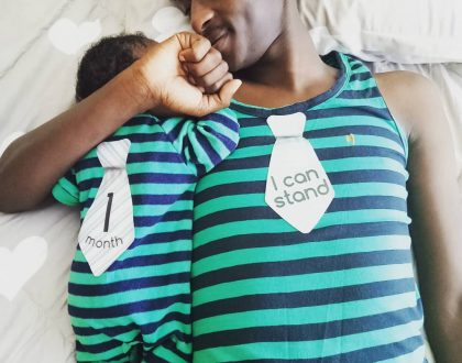 Adorable! Comedian Njugush finally unveils his adorable son 1 month after his wife gave birth!