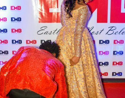 Bahati brags about the amount of money he spent on his wife's red carpet gown!
