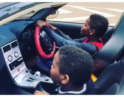 """Why don't you also blame their mother"" Jose Chameleone speaks of his 12 year old son driving on a highway"