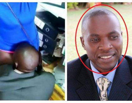 Varsity suspends randy lecturer Edward Kisuze who was photographed forcefully licking student's private parts