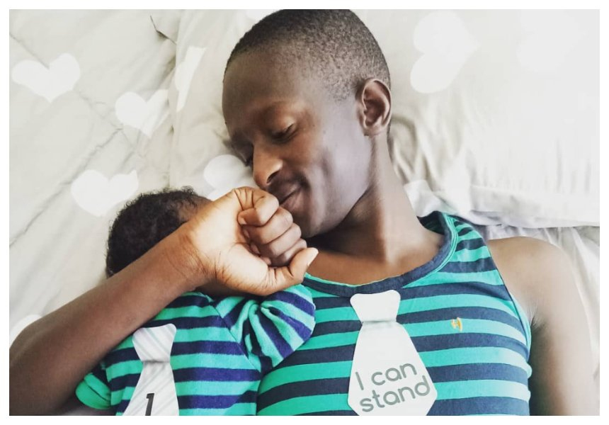 Njugush's wife enjoying motherhood as she steps out with their baby for the first time (Photo)