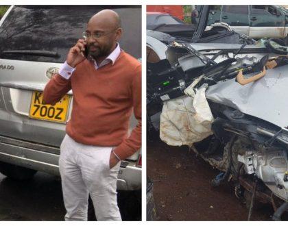 SK Macharia's son dies in a freak road accident involving his 13 million Porsche (Photos)