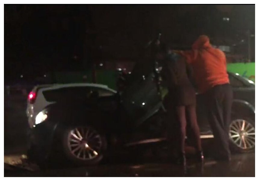 Drunk driving? Suzanna Owiyo crashes her Range Rover on Langata Road (Video)